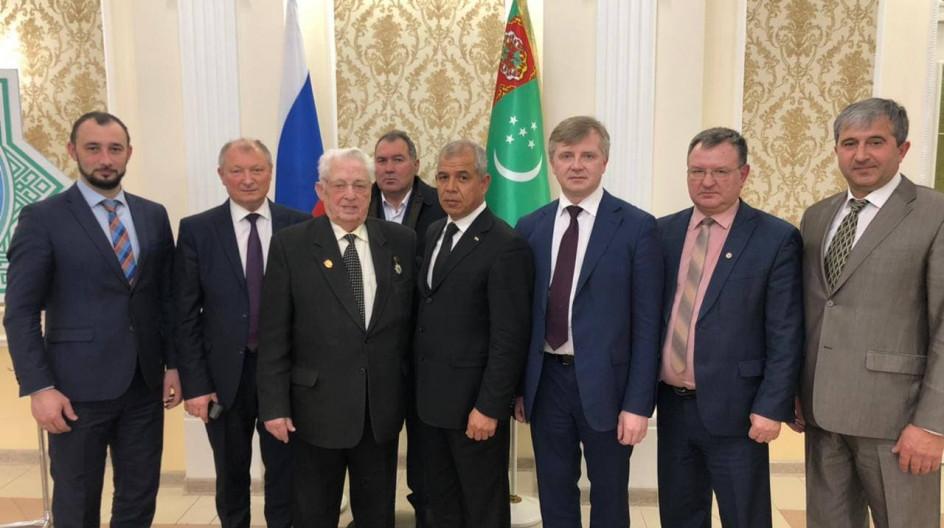 Алексей Солдатенко посетил с делегацией от России Посольство Туркменистана