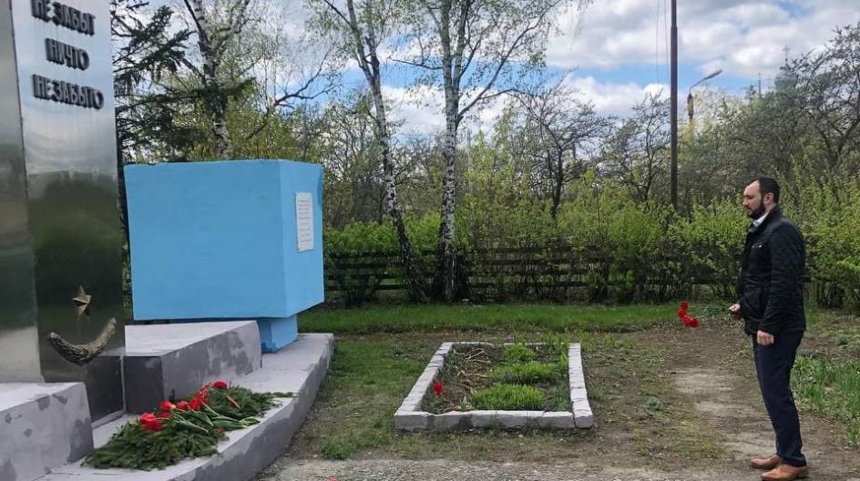 Алексей Солдатенко принял участие в вахте памяти у мемориала воинам Красной Армии и партизанам бригады им. Чапаева в поселке Белая Берёзка Брянской области