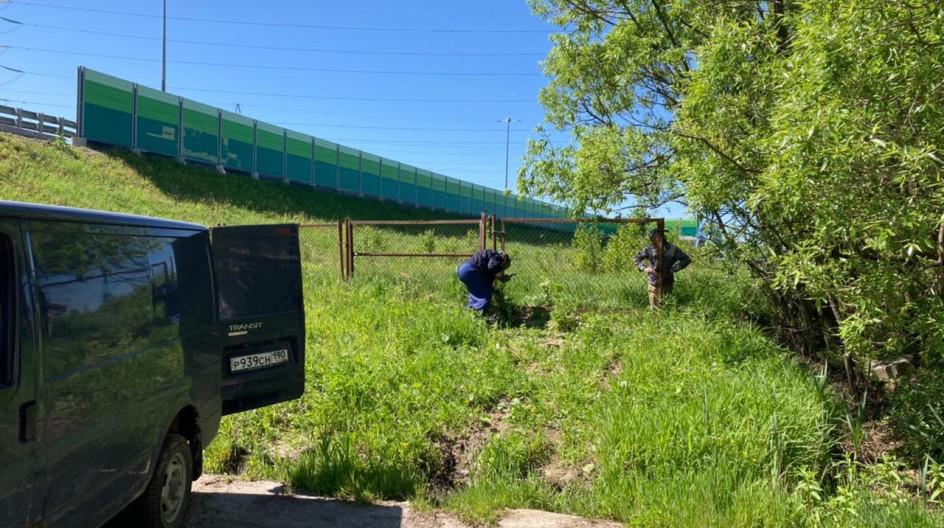 Алексей Солдатенко по просьбе жителей восстановил металлический забор у деревни Бородки